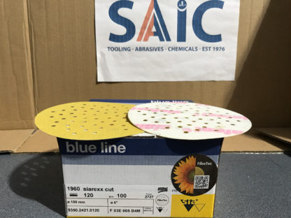 CLEARANCE - SIA 1960 FIBOTECH DISCS 150DIA GR120 PACK OF 100