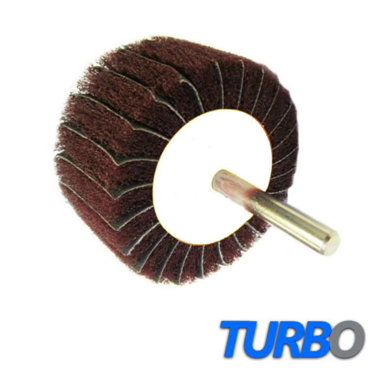 Turbo Interleaved Spindle-Mounted Flap Wheels, 10/Pack